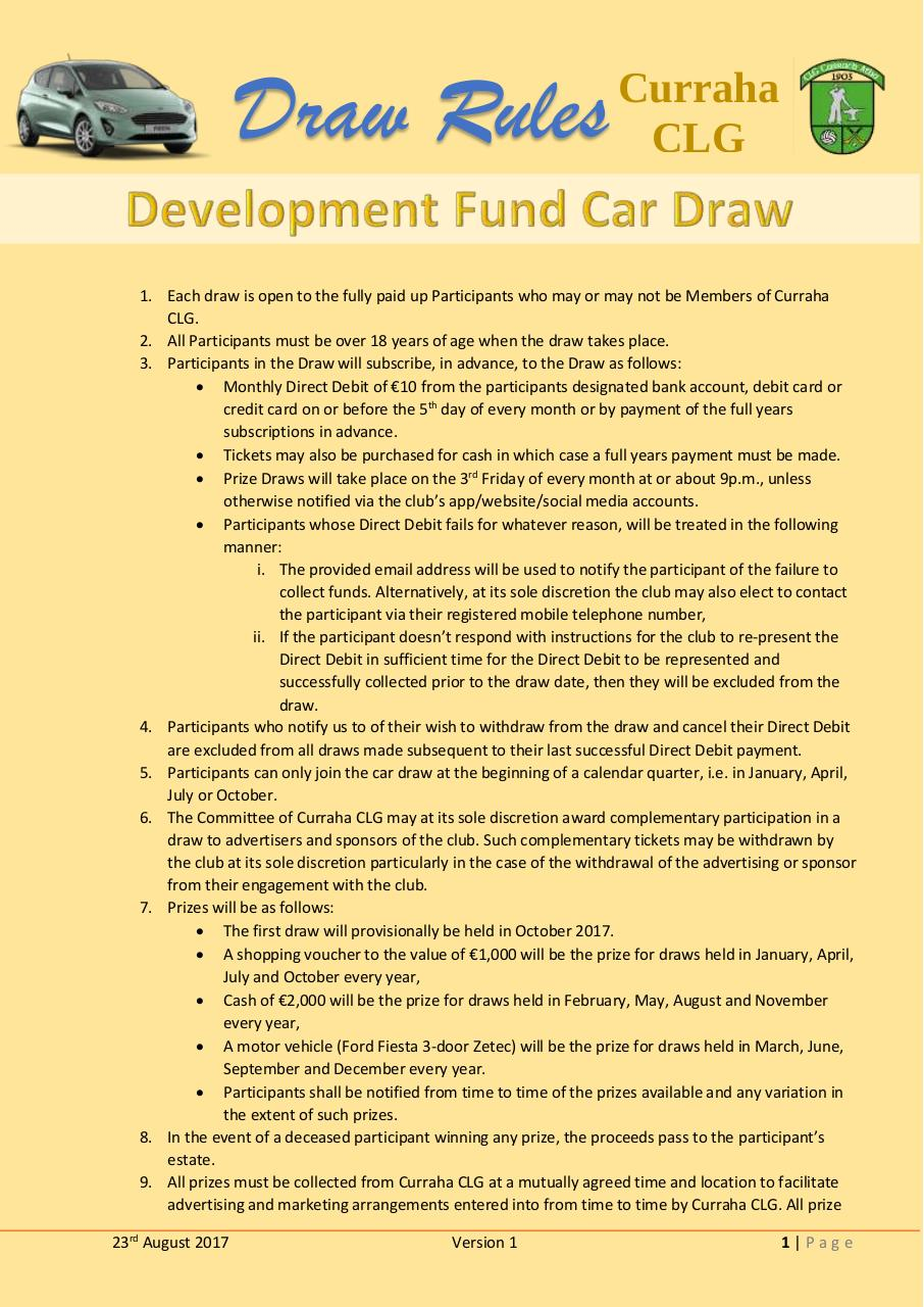 Development Fund Car Draw Rules.pdf - page 1/2