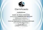 certificado de webdeveloper em csharp digital frente e verso