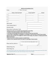 refund and cancellation form