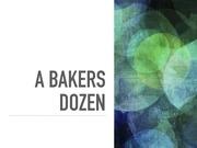 bakers dozen