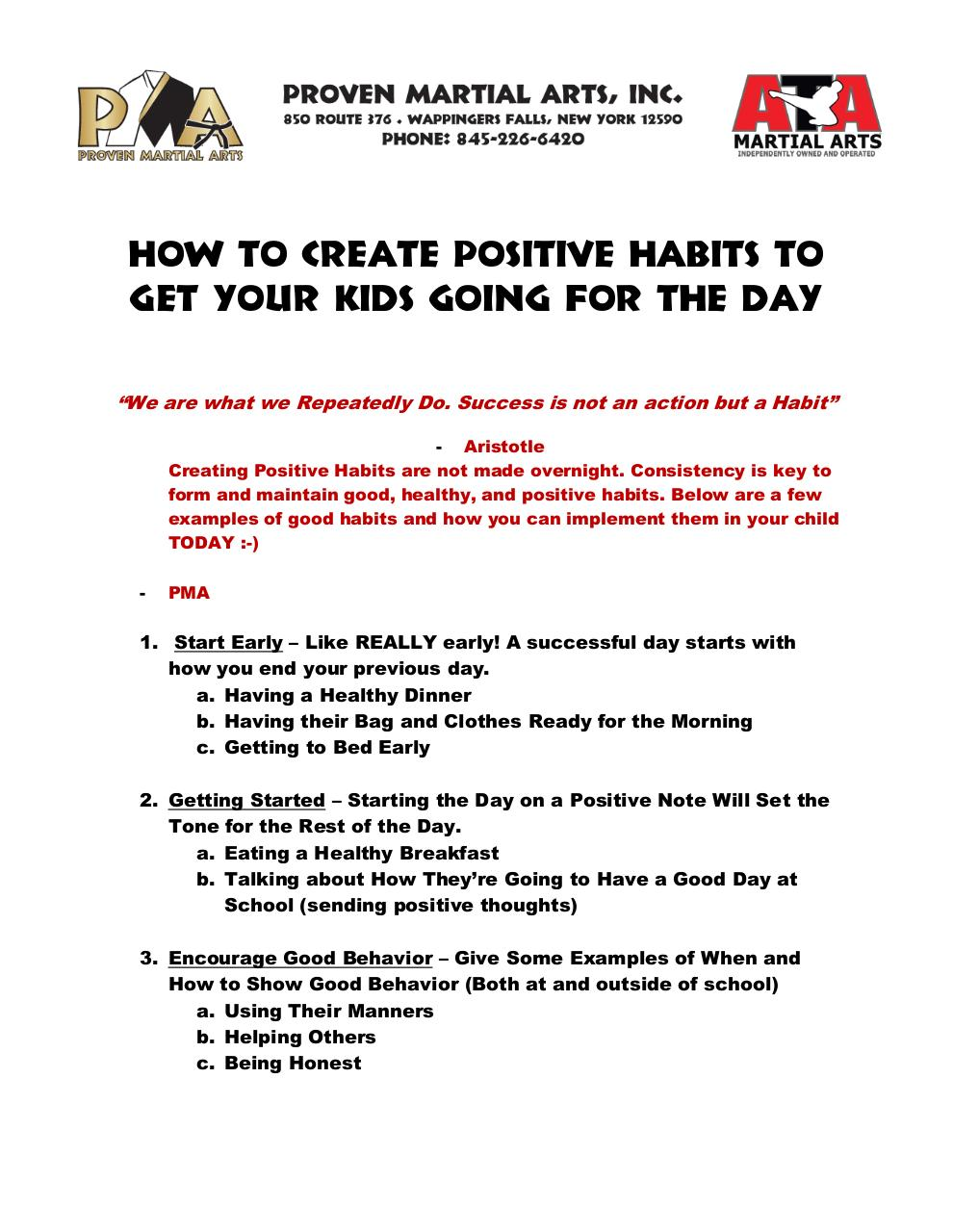 How to create positive habits for your child.pdf - page 1/2