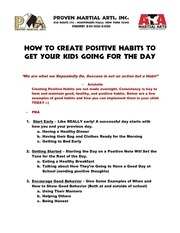 PDF Document how to create positive habits for your child