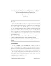 investigating congressional organizational