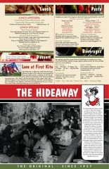 the hideaway menu 2017