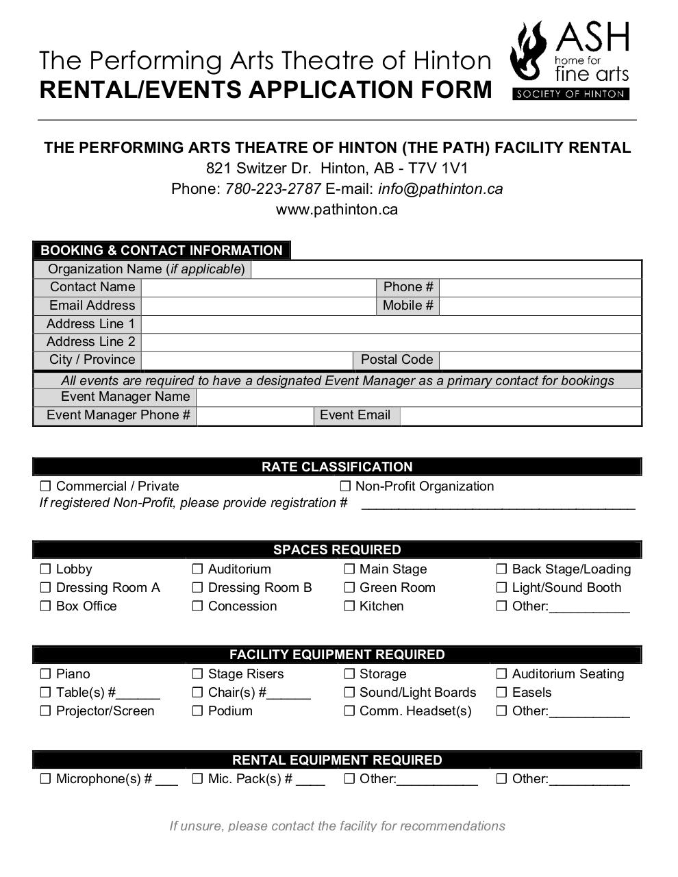 PATH Facility Rental Application Form 3pg (1).pdf - page 1/3