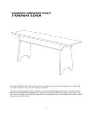 stowaway bench