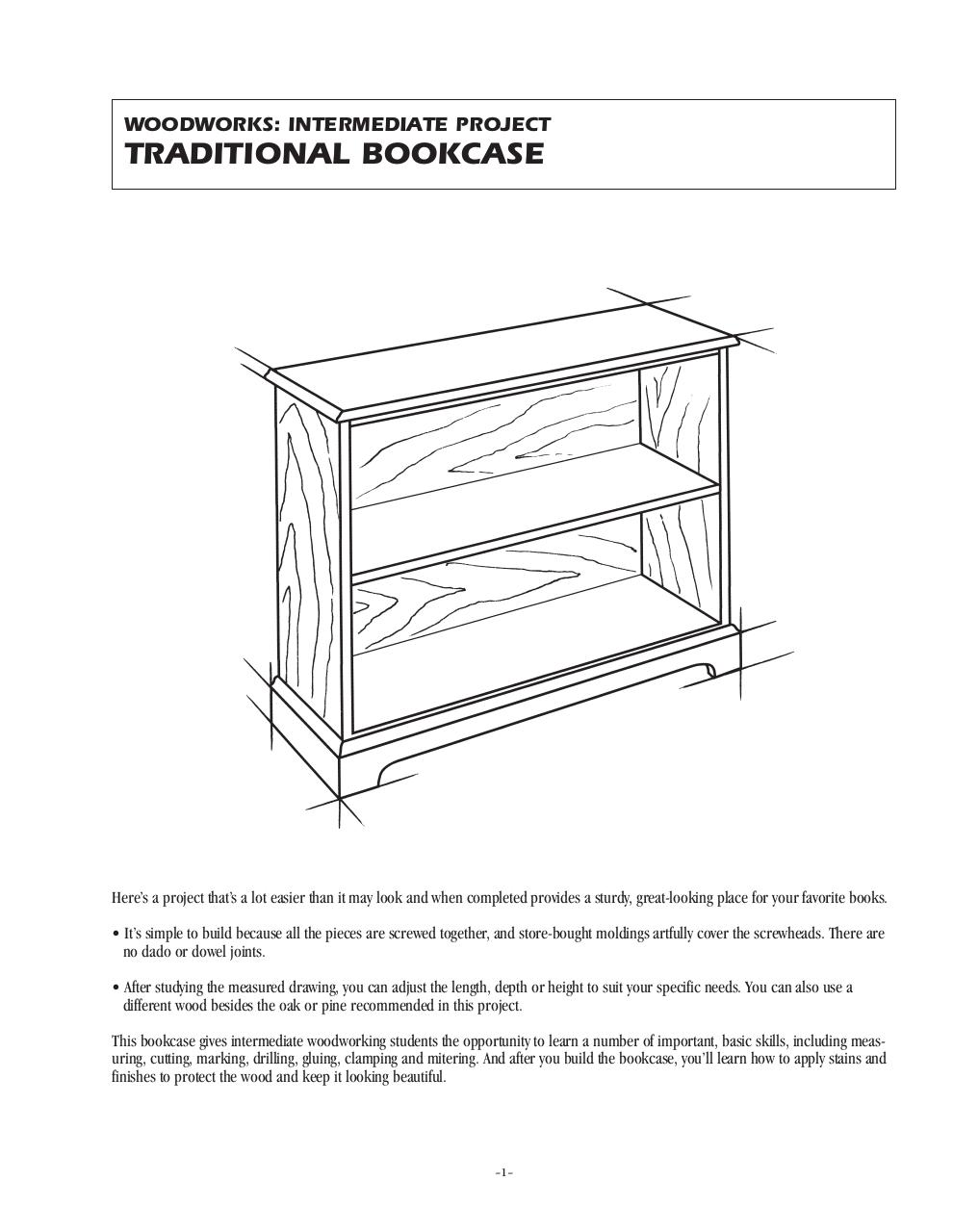 Traditional_Bookcase.pdf - page 1/6