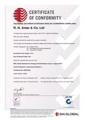 certificate esp21091 r h amar ltd 2017925