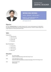 resume wong wai keong