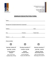seminar registration form