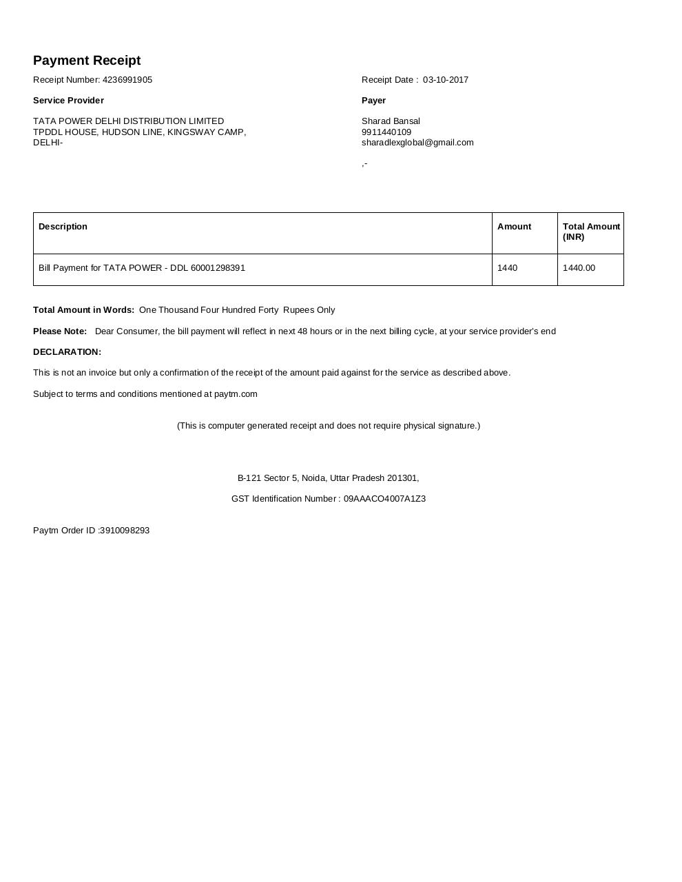 Document preview invoice_2895795464.pdf - page 1/1