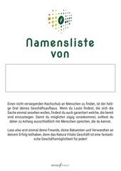PDF Document namensliste