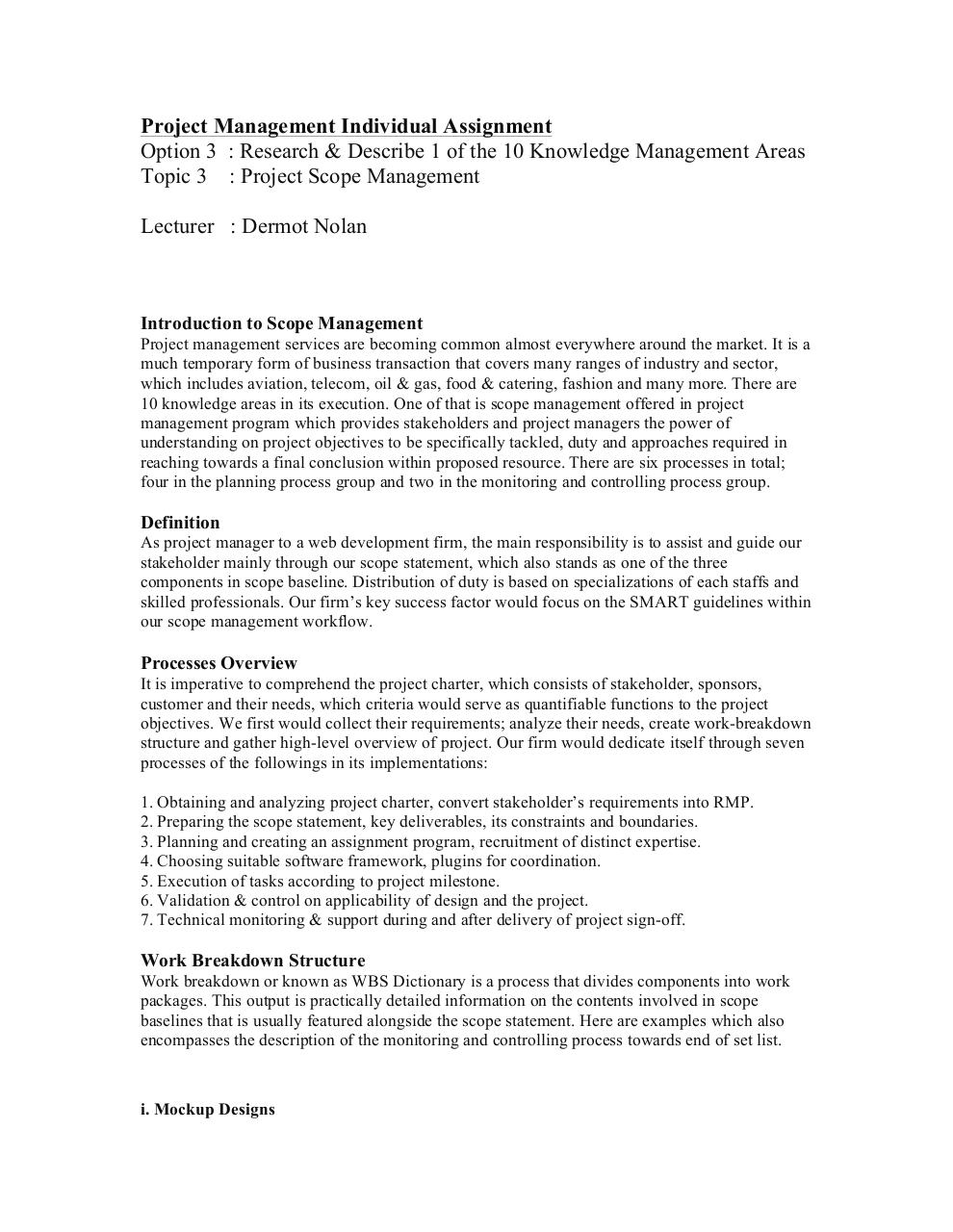 Project Management Individual Assignment.pdf - page 1/3