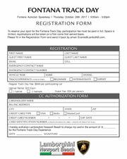 track day registration lnb