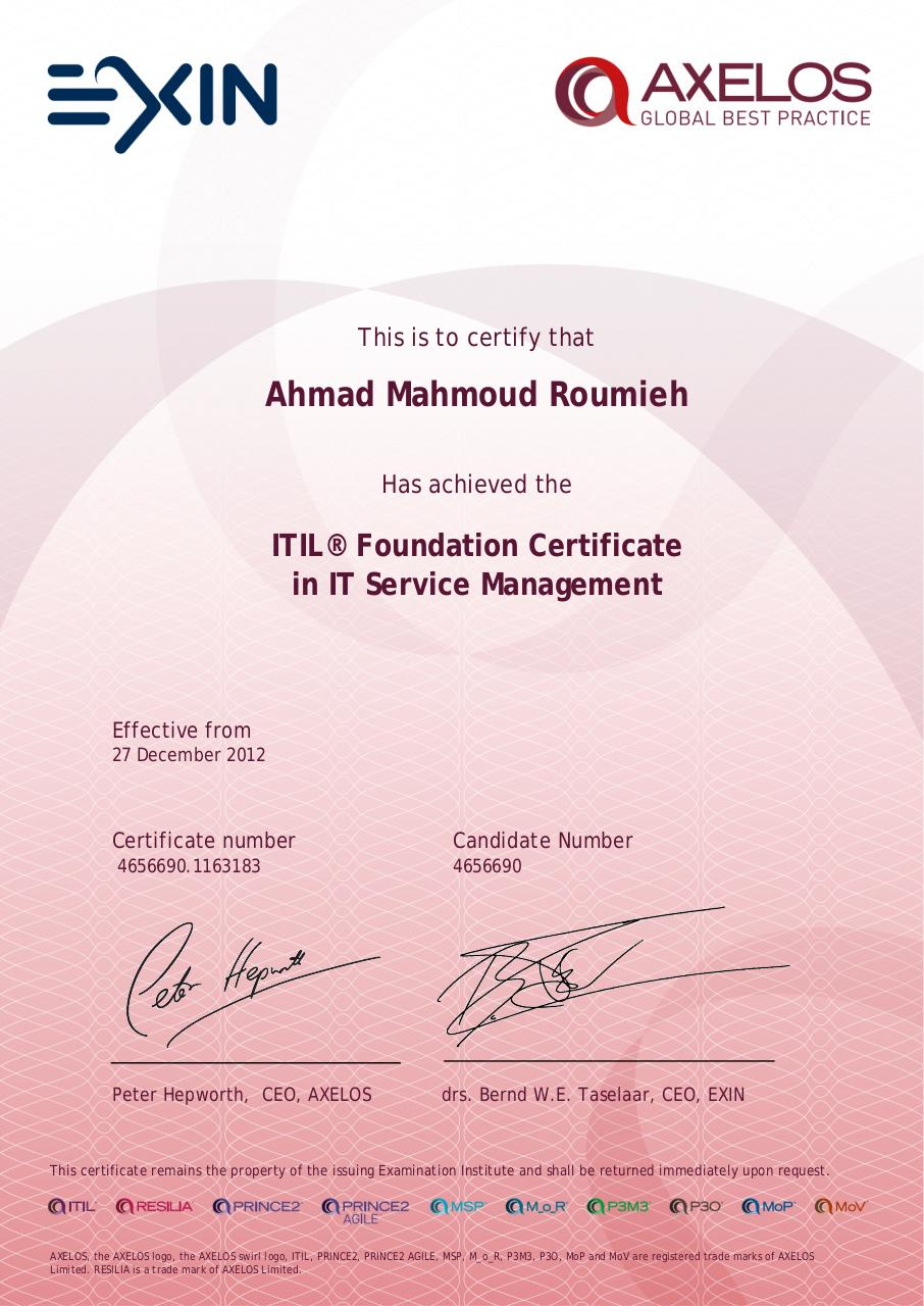 Document preview ITIL® Foundation Certificate in IT Service Management.pdf - page 1/1