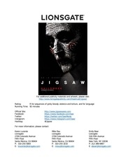 sawspace jigsaw production notes lionsgate
