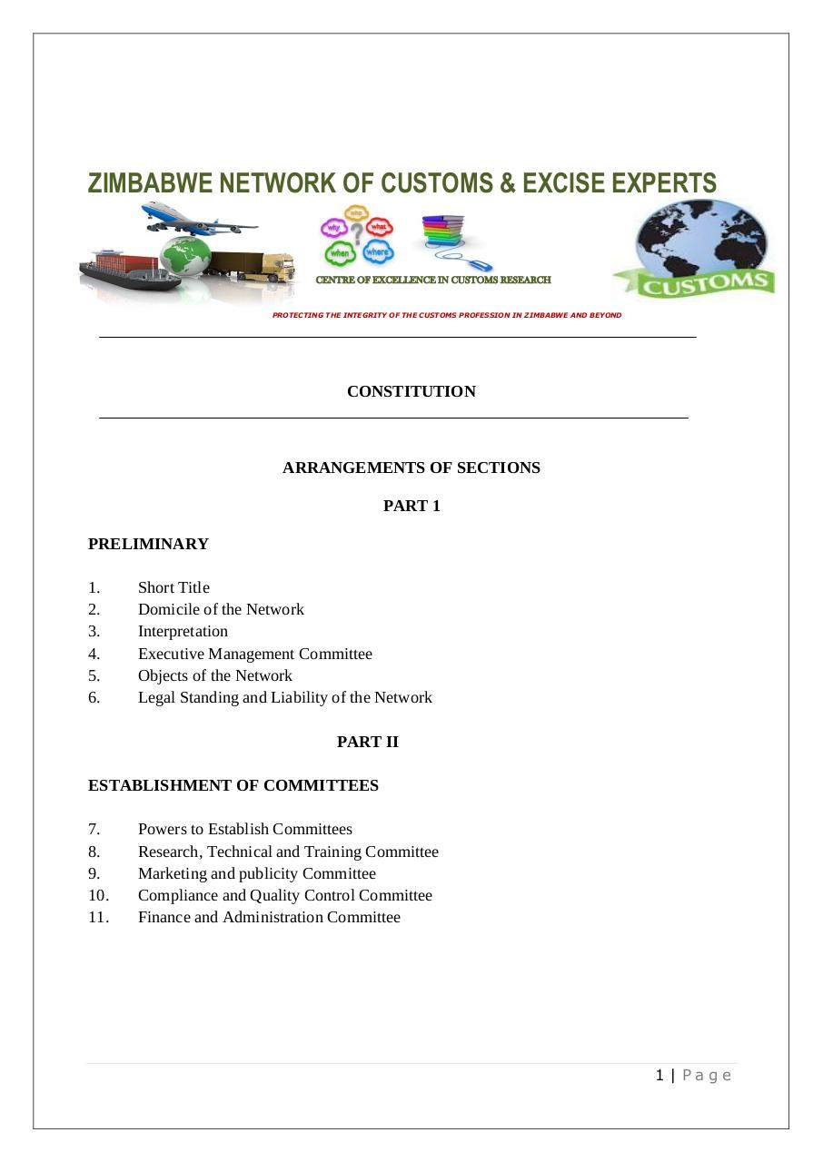 NETWORK of customs experts - CONSTITUTION.pdf - page 1/26