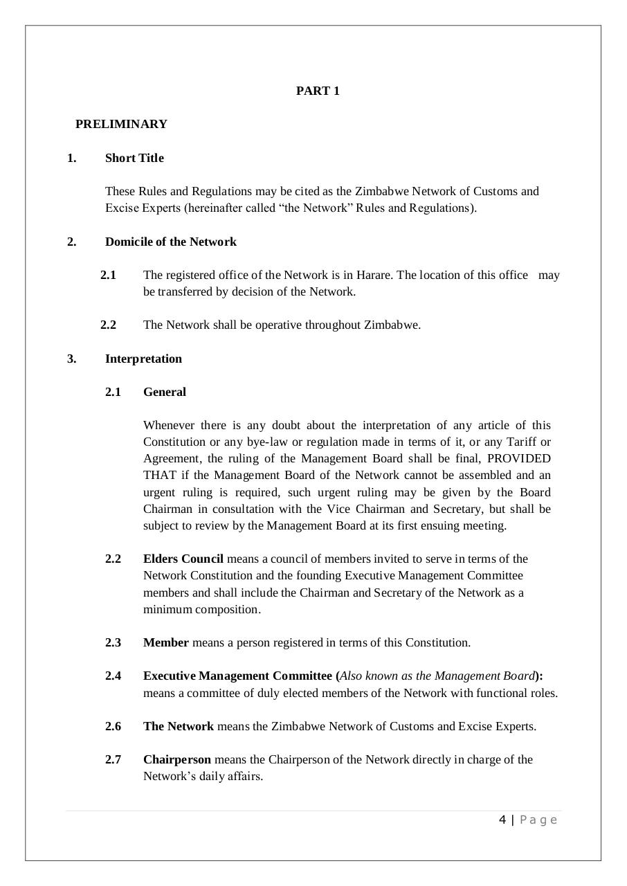 NETWORK of customs experts - CONSTITUTION.pdf - page 4/26