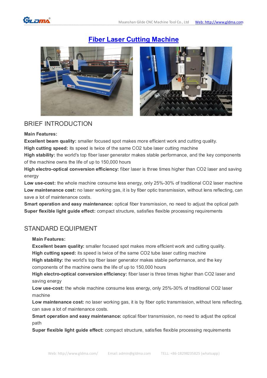 Fiber Laser Cutting Machine.pdf - page 1/6