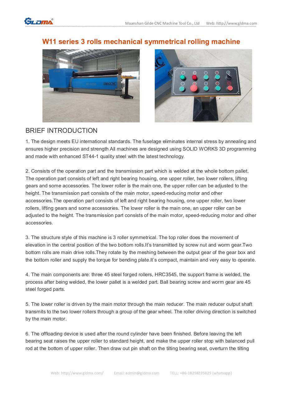 W11 series 3 rolls mechanical symmetrical rolling machine.pdf - page 1/5