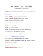 the alley cat press