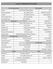 c172sp checklist