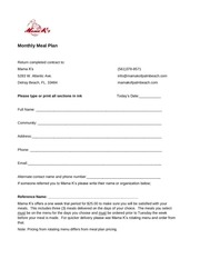 mama k s monthly meal plan contract