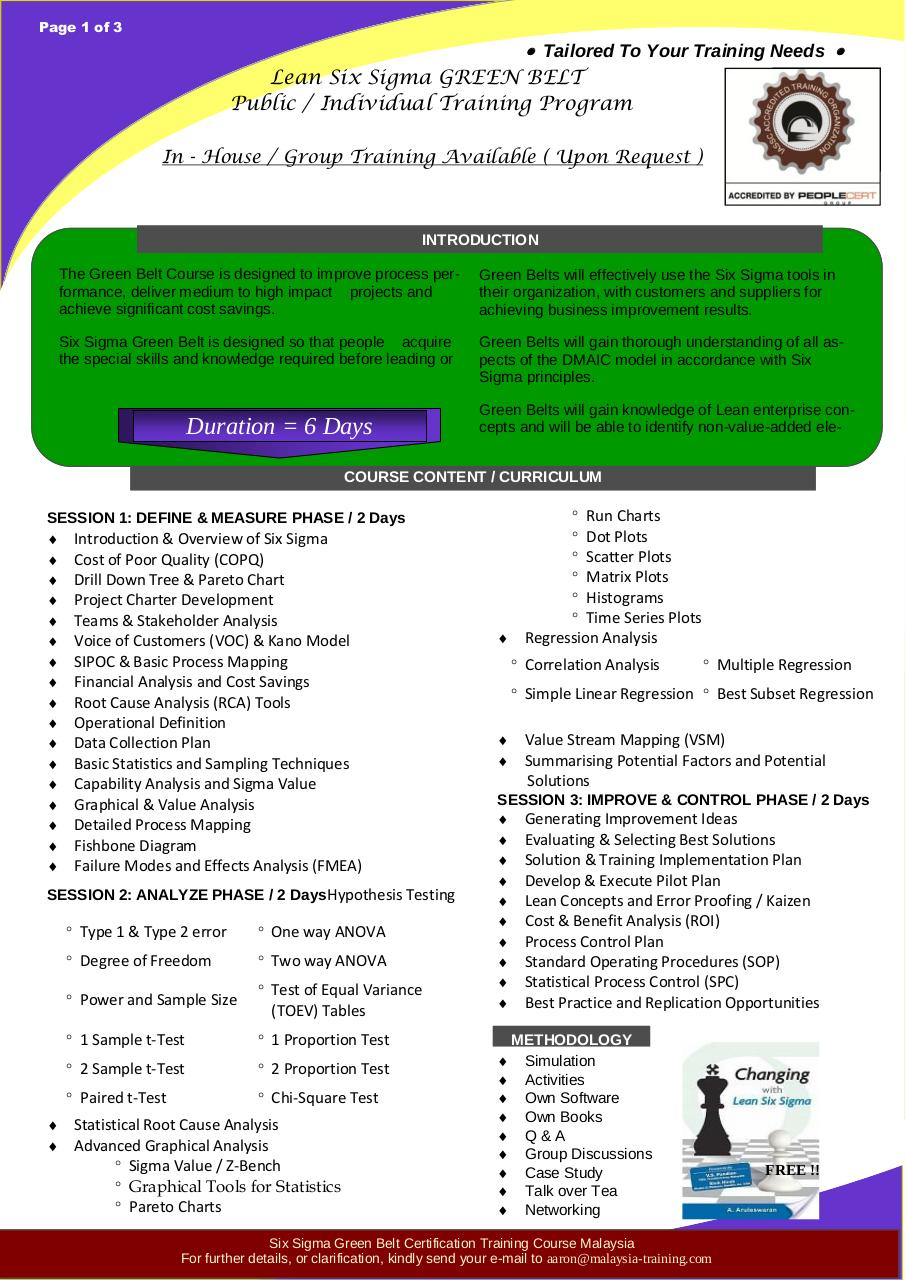 Document preview Six Sigma Green Belt Training Courses Malaysia.pdf - page 1/3