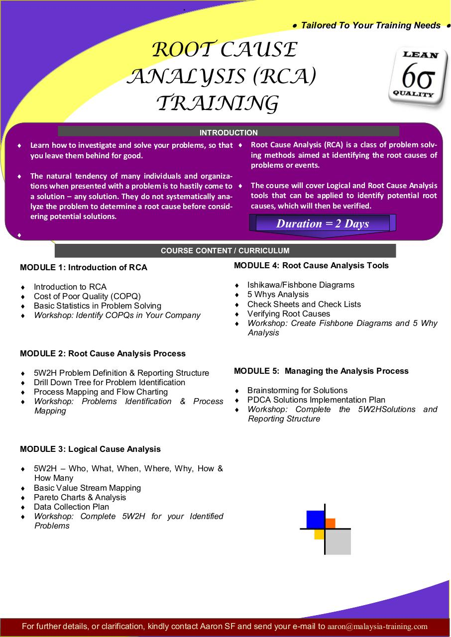 Document preview Root Cause Analysis Training Courses Malaysia.pdf - page 1/1