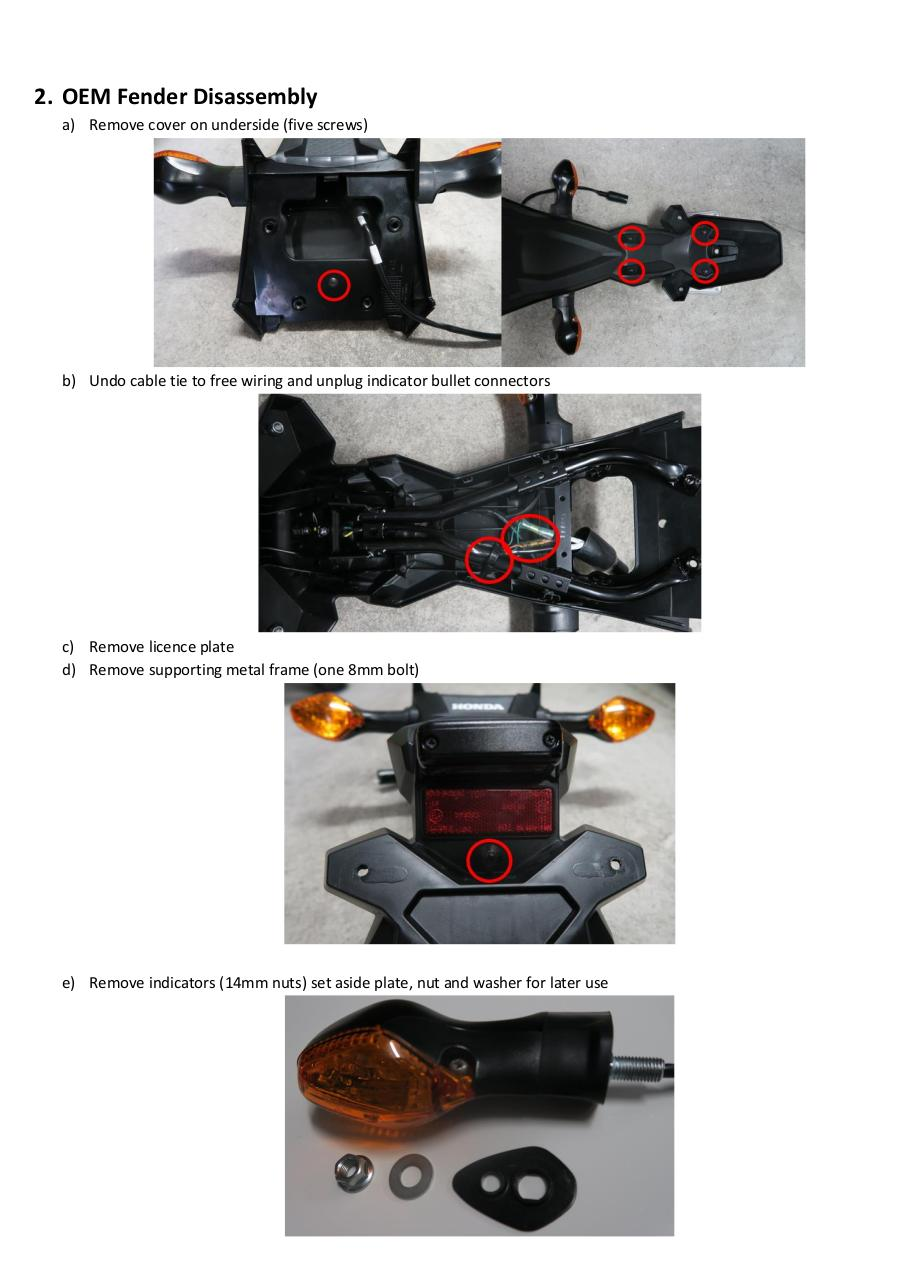 Document preview Renken Honda Grom 2016-17 Instructions.pdf - page 2/4