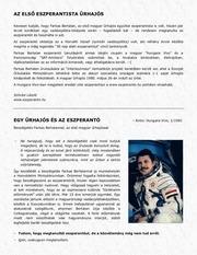 farkas bertalan eszperanto interju magyarul
