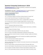 quantum computing conferences in 2018