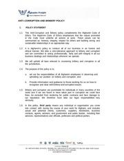 anti corruption and bribery policy
