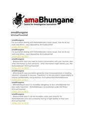 amabhungane virtaultownhall