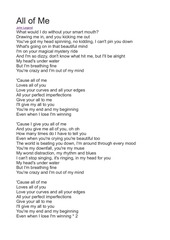 PDF Document all of me lyrics