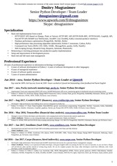 dmugtasimov resume upwork