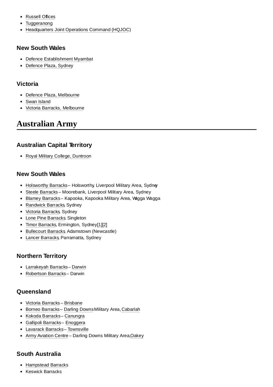 Document preview List_of_Australian_military_bases.pdf - page 2/5