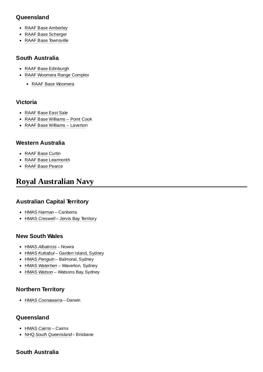 Document preview List_of_Australian_military_bases.pdf - page 4/5