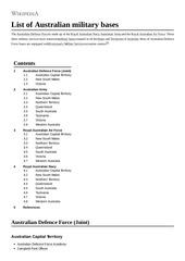 list of australian military bases