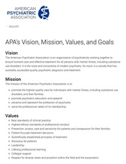 apa s vision mission values and goals
