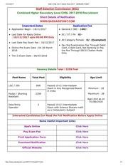 ssc chsl 2017 online form 2017 sarkari point