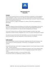 PDF Document stage developpeur sig