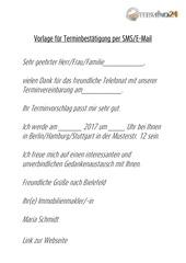 PDF Document vorlage f r terminbest tigung per sms