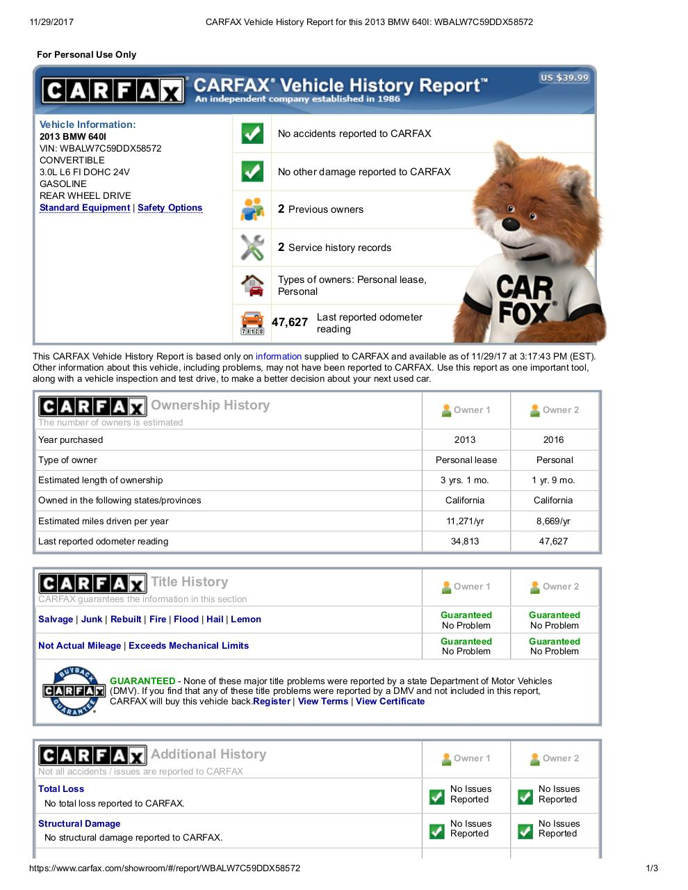 Preview of PDF document 640i-carfax.pdf
