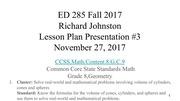 lesson plan presentation richard johnston