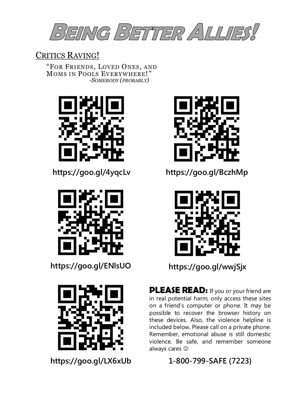 Document preview Being Better Allies QR Code Handout.pdf - page 1/1