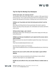 wub top 10 tips for renting your deskspace
