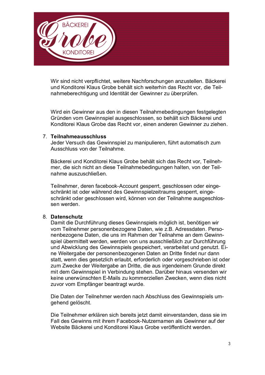 Document preview 171126_BäckereiGrobe_Teilnahmebedingungen_Facebook.pdf - page 3/4