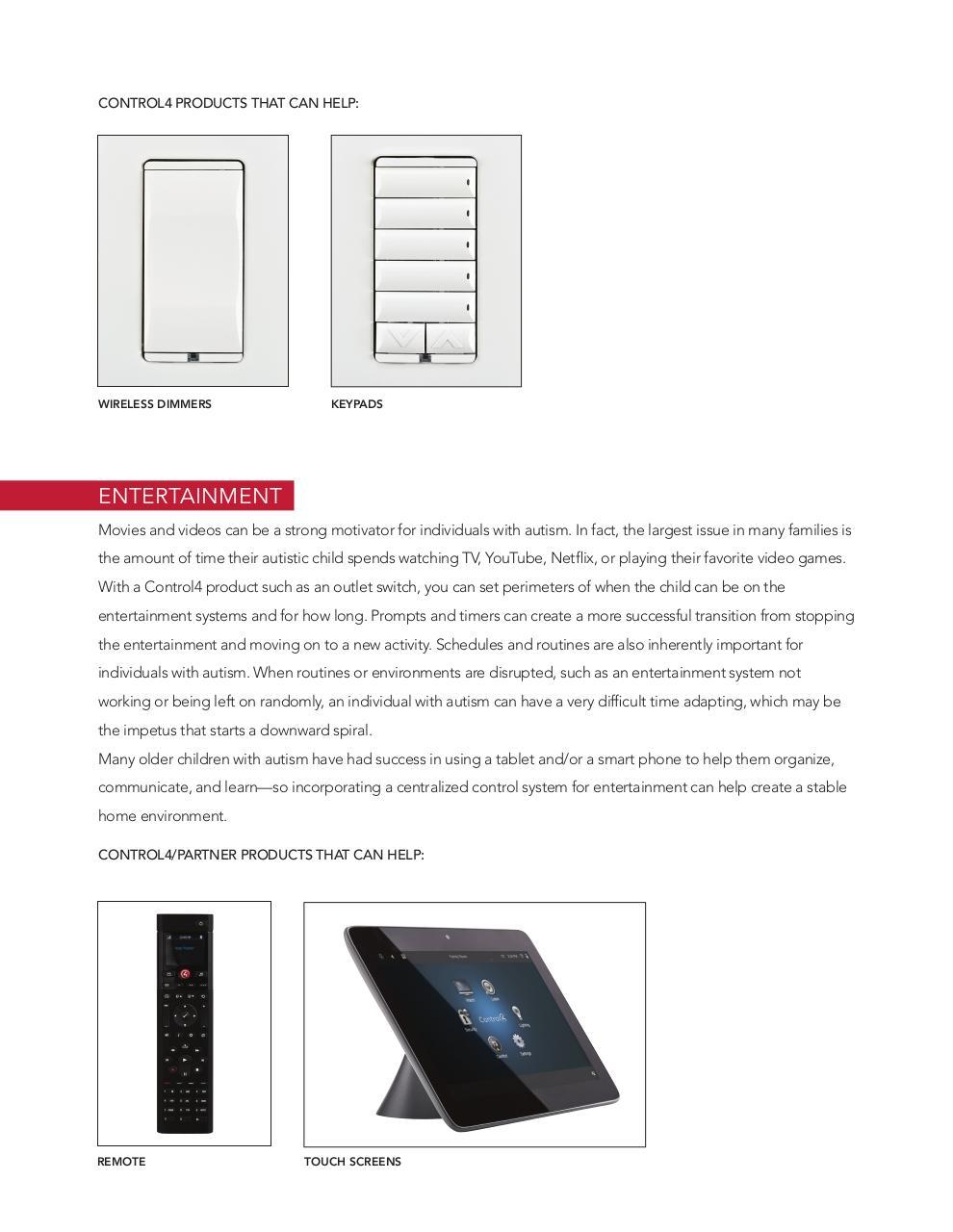 Control4 Guide 0915 V6 indd - Control4 Autism Brochure pdf