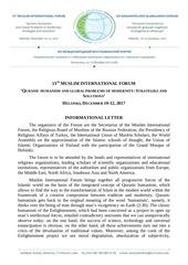 13 muslim international forum message